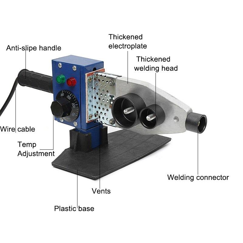 800 Вт 1000 Вт 220 В электрический горячий сварочный аппарат нагревательный инструмент PPR PE PP труба сварочная машина