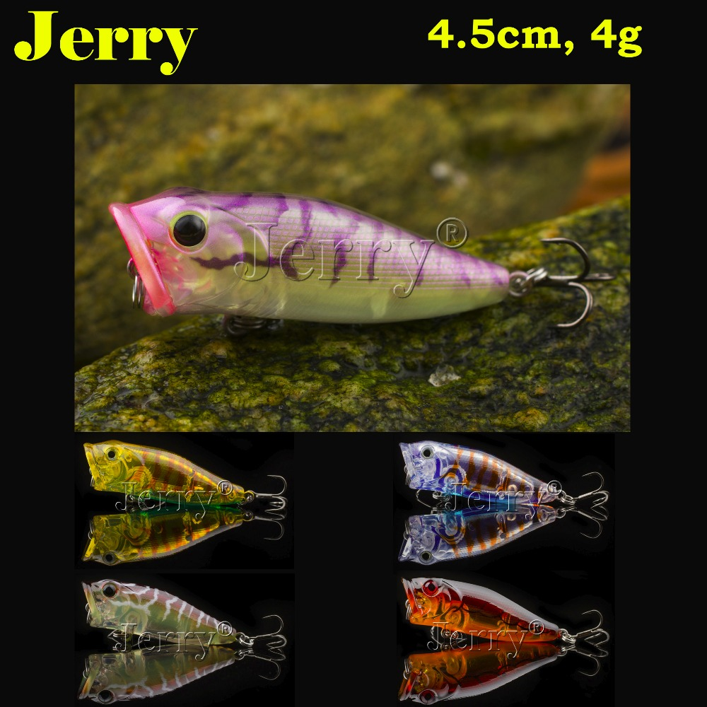 Jerry Japan ultralight mini popper lure 4.5cm/1.8in 4g BKK hook bass bait plug topwater surface fishing jerry 1pc 8cm 15g crystal popper lure for bass best hard lures surface bait deep sea