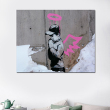 Banksy Art In Utah Wall Canvas Painting Posters Prints Modern Oil HD Pictures For Living Room Home Decoration
