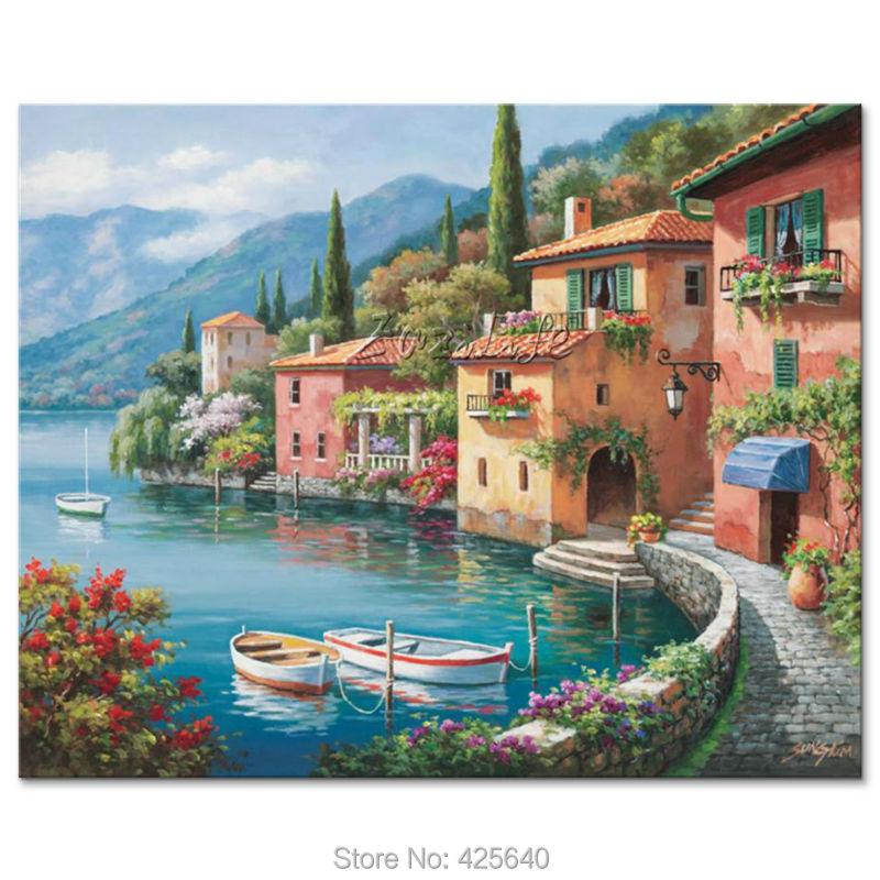 dipinti a mano paesaggi marini pittura per il salotto