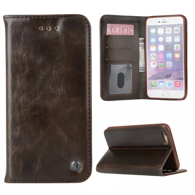 Crazy Horse Leather Flip Case Cover For iPhone 5 5S SE For iPhone 6 6s P For iPhone 7 7Plus
