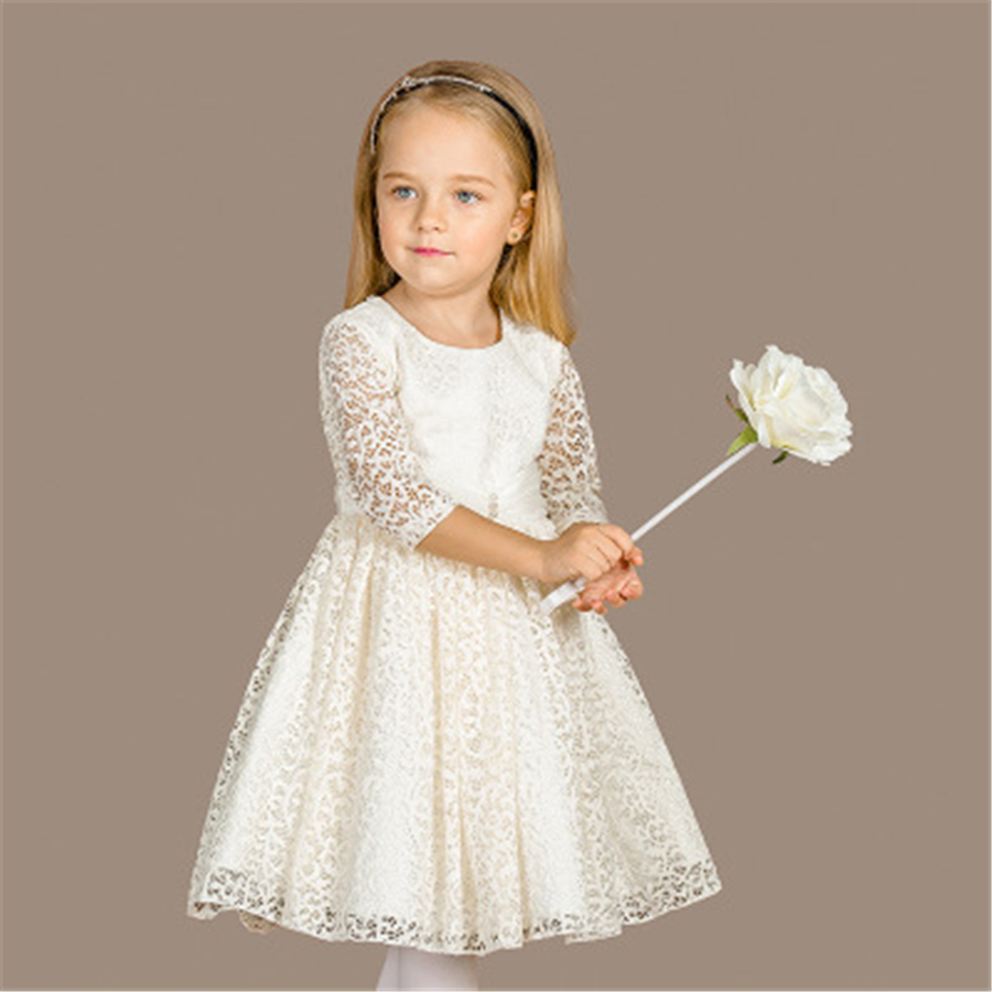 Princess Dress Girl Kids Dresses For Girls Spring Clothing New Fashion Casual Girls Dress With Long Sleeves Cotton 70C1096 fashion cotton girls dress stripe belt 2pcs kids dresses for girls black long new year costumes for kids for2 7t baby girl