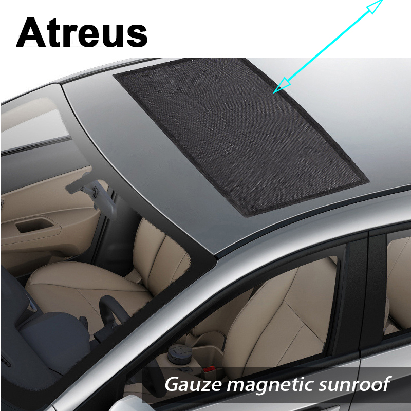 US $12 3 20% OFF|Atreus Car Top Roof Sunroof Window Sun Shade Visor Curtain  Covers For Mercedes benz W204 W203 W211 AMG Mini cooper Skoda octavia-in