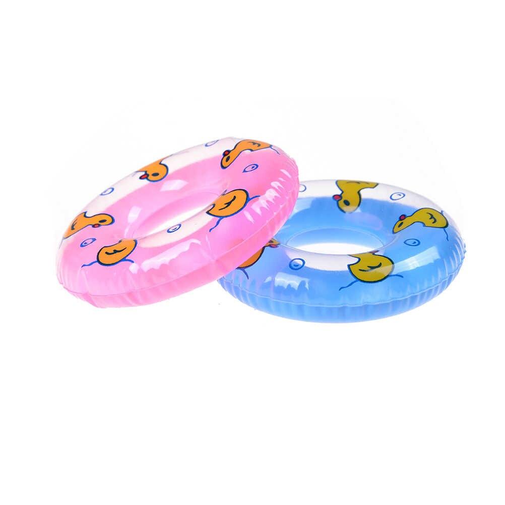 1 個ミニ水泳ブイ Lifebelt リング人形人形アクセサリー玩具人形、赤ちゃんのおもちゃ最高のギフト