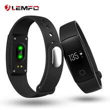 Lemfo Bluetooth 4.0 smart Сердечного ритма Мониторы динамический Браслет Шагомер Спорт SmartBand браслет Фитнес трекер