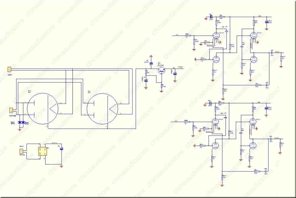 US 16 5 12AX7 ECC83 12AU7 ECC82 Tube Preamplifier Preamp Refer Wada Shigeho S Classic Circuit Improved From Marantz 7 For Hi Fi Audio In Amplifier