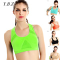 YBZ Women Bra Top For Fitness Sportwear Padded Wirefree Shakeproof Bra Seamless Push Up Bra Top For Woman Soutien Gorge B-D321