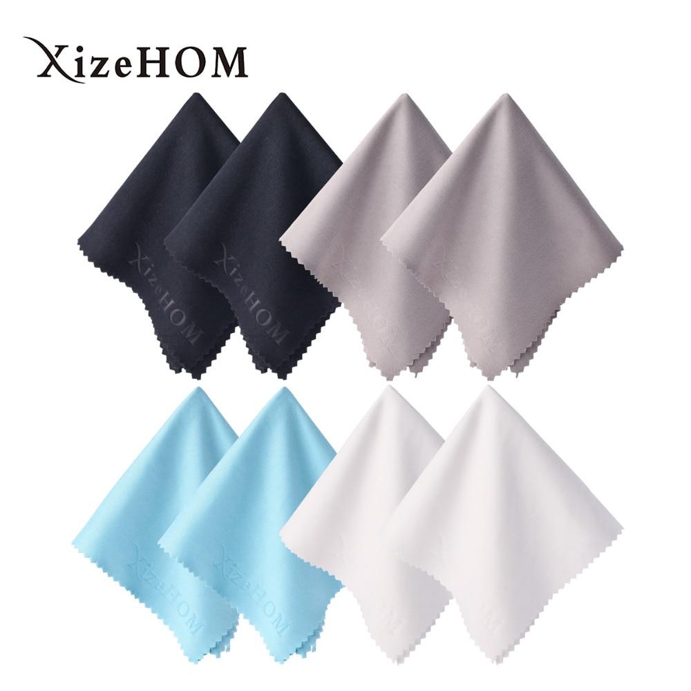 XizeHOM 8 шт./лот, очиститель очков высокого качества, 20*20 см, ткань из микрофибры для чистки очков, для чистки линз, экрана телефона, салфетки для ...