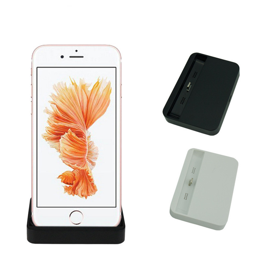 Mobile Phone Dock Station Charger Desktop Cable Data Charging Docking Stand Base For IPhone 6 6s Plus 7 Plus 8 X Max XR 5 SE IOS