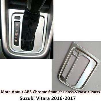 Alleen fit links driver Voor Suzuki Vitara 2016 2017 2018 2019 auto ABS chrome midden voorzijde Shift Kraam Peddels cup lamp frame trim