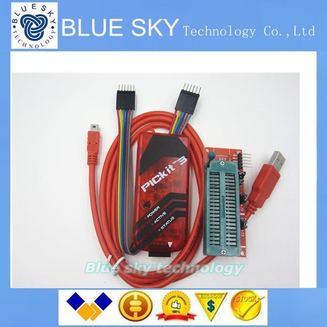 PICKIT3 Programador + Adaptador de Programação PIC ICD2 PICKit 2 PICKIT 3 Programador Universal Assento FZ0508 Frete Grátis