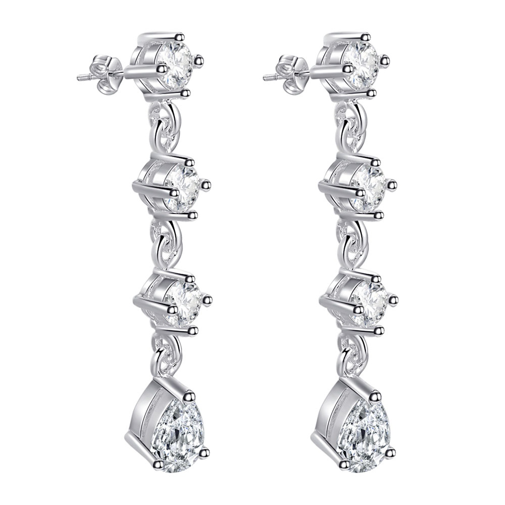 88dd722b0570 Brillante con banda superior calidad envío libre plateado plata Pendientes  para la joyería de la manera de las mujeres wytfrnbr zshgypvh