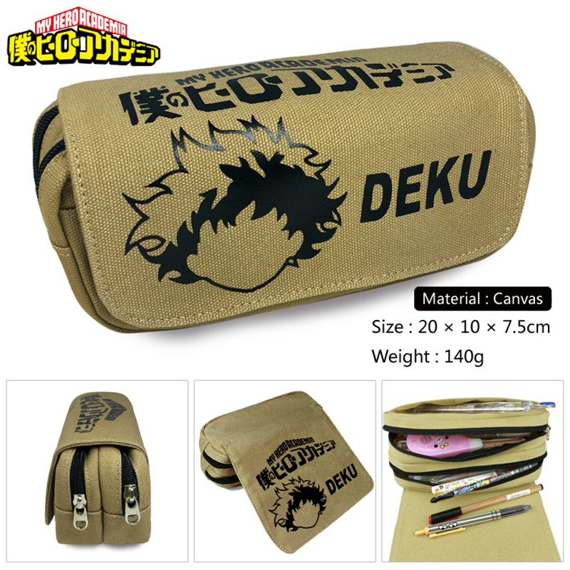 Girls Wallet Bags Pencil-Case Make-Up-Bag School-Supplies Canvas Academy Hero Deku-Justice