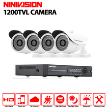 4CH font b CCTV b font System 1200TVL font b CCTV b font Camera Home Security