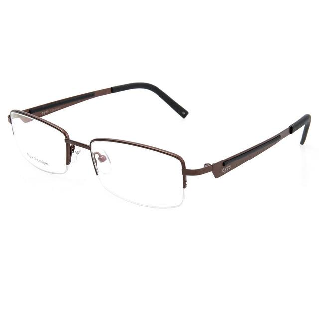 Novo Padrão de Moda Homem Óculos de Fundo de Olho Míope Óculos de Meia Armação Óptica Óculos Armação de Metal