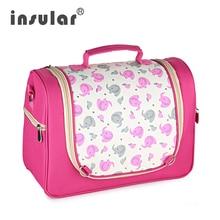 купить INSULAR Fashion Baby Diaper Stroller Bag Messenger Mommy Bag Maternity Nappy Changing Bag Shoulder Traveler Messenger Bag по цене 1133.81 рублей