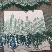 Sequined African French Mesh Net Lace Fabric For India Evening Party Dress Fabrics 2018 New Nigeria Sequins Voile X339 1