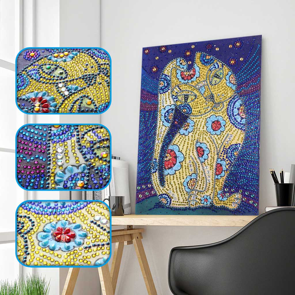 2x 5D Special Shaped Diamond Painting DIY Partial Drill Cross Stitch Kits