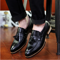 Новое Прибытие Мужская Обувь Кожа Черная Кисточка Лодка Обувь Острым Носом Скольжения На Бизнес Отдых Офисные Обувь Человек Повседневная Zapatos