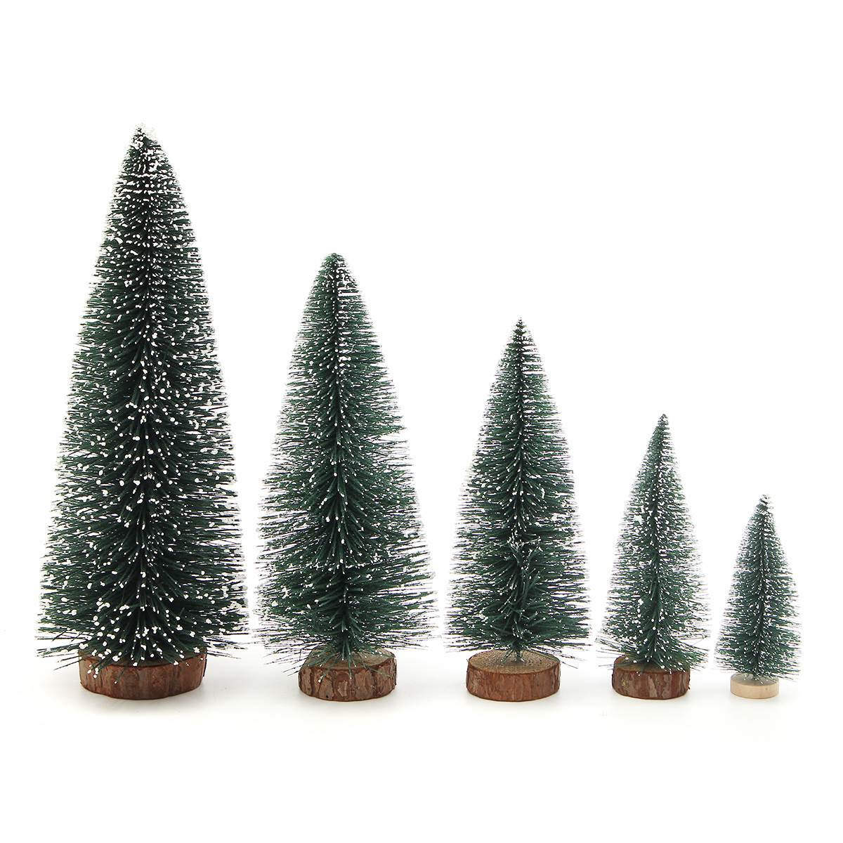 1pcs Mini Plastic Artificial Christmas Tree Miniatures Toys Diy Decorations Model Gift 10 30cm For Children In Building Kits From