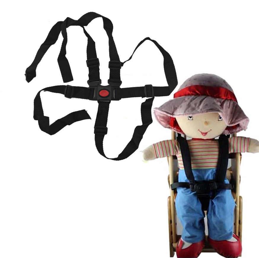 เด็ก Universal 5 จุดเก้าอี้สูงที่นั่ง Safe BELT เข็มขัดสำหรับรถเข็นเด็ก Buggy เด็กรถเข็นเด็ก