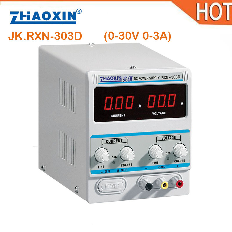HOT Linear DC Power Supply 0-30V Output Voltage, 0-3A Output Current RXN-303D adjustable power supply laboratory power supply rxn 305d ii 0 30v 0 5a two circuit output cocurrent voltage stabilized source fixed output 5v 3a adjustable dc power supply