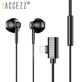 !ACCEZZ Magnetic Earphone Lighting For iPhone XS MAX XR X 8 7 Plus 2 in 1 In-Ear HiFi Earphones IOS 11 12 Phone Charging Adapter