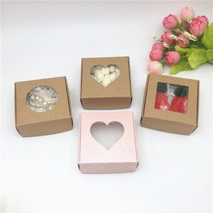 Image 4 - 20 stücke Kraft Papier Karton Lagerung Boxen Mit Fenster Geschenke Box Für Produkte/Begünstigt Geschenke Verpackung Box Beliebten Boxen