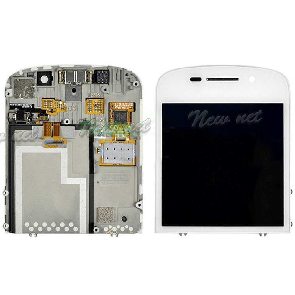 White Black LCD Display Touch Screen Digitizer Assembly For Blackberry Q10 High Quality Replacement Repair Part