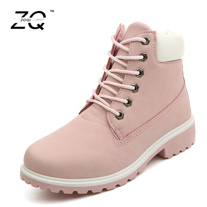 Women Winter Boots 2017 Couple Plus Fur Snow Boots Low Heels Shoes Ladies Lace-Up Ankle Boots Platform Shoes Warm Size36-46 womens olang patty warm winter lace up faux fur snow rain ankle boots