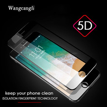 0.26mm 5D 9H Tempered protective glass on the iphone 6 6S 7 8 Plus X Premium Screen Protector Full Cover Film HD Curved Edge