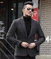 2016 del otoño del resorte nuevos hombres de moda casual traje chaqueta de los hombres de un solo pecho trajes ocasional de la chaqueta de ropa para hombre