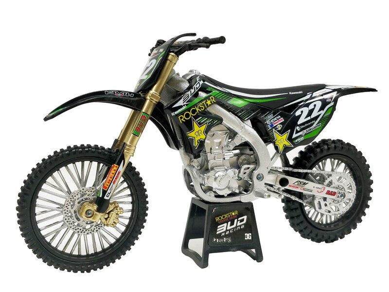 1:12 Rockstar Kawasaki KX450 No22 Racing Diecast Motorcycle