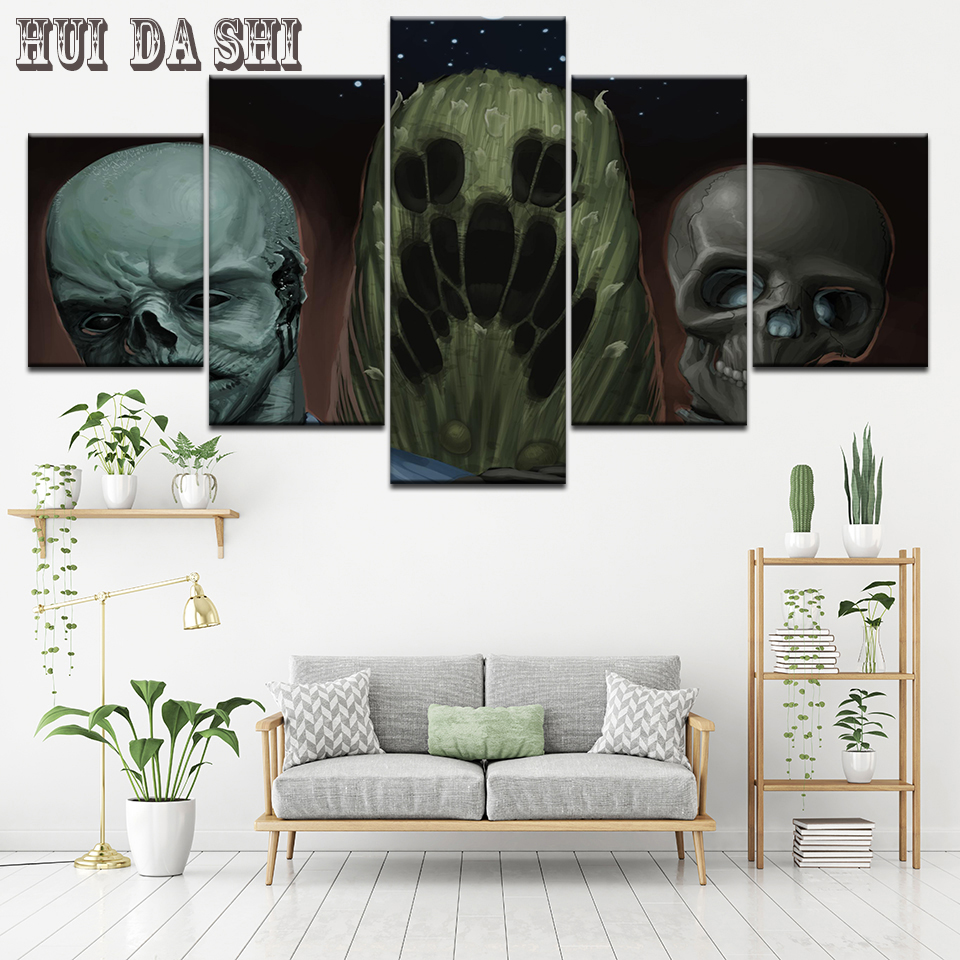 5 piece canvas art HD print call of duty zombies death poster paintings for living room modern home decor wall free shipping