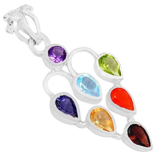Chakra Pendant  100%  925 Sterling Silver Jewellery CP131