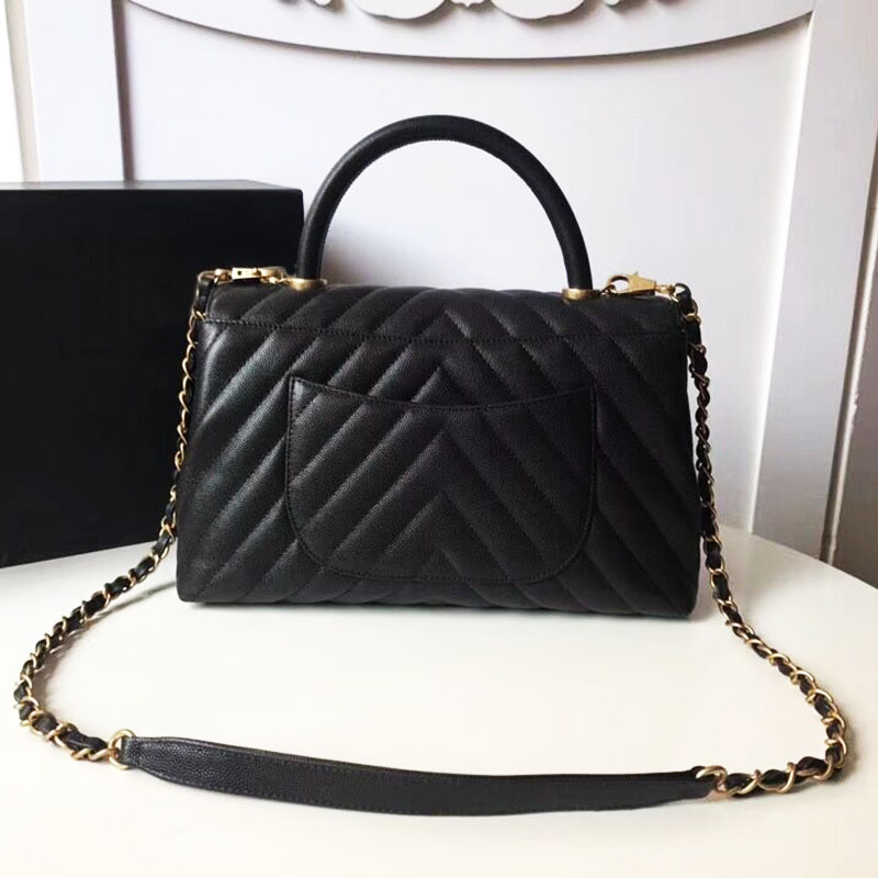 цена на 2018 new brand bag luxury women Top quality caviar leather handbag designer chevron tote shoulder bags