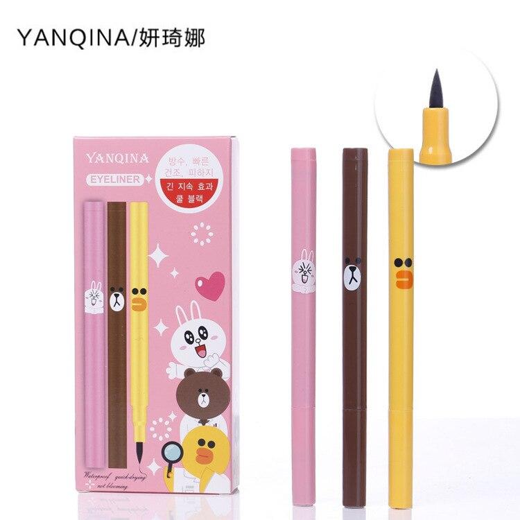 YANQINA brand Best Sellers Cartoon Eyeliner Lasting waterproof sweatproof Anti halo dyeing Eyeliner Waterproof Liquid Eyeliner