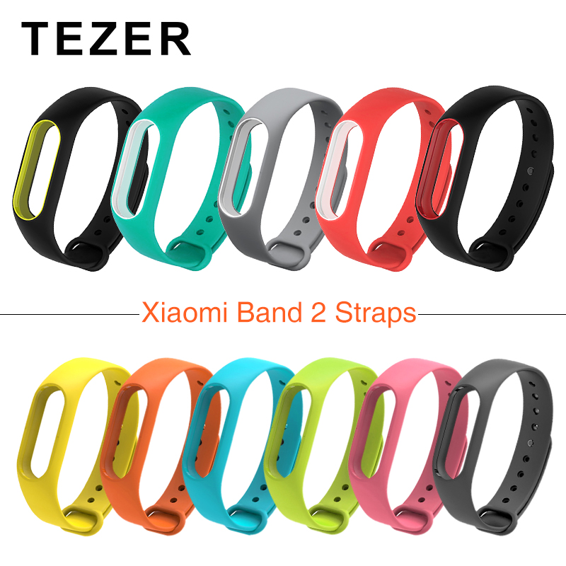 For Xiaomi Mi Band 2 Strap Replacing Smart Bracelet Accessories two-color mi band 2 Bracelet Strap Mi 2 Silicone Strap wristband image