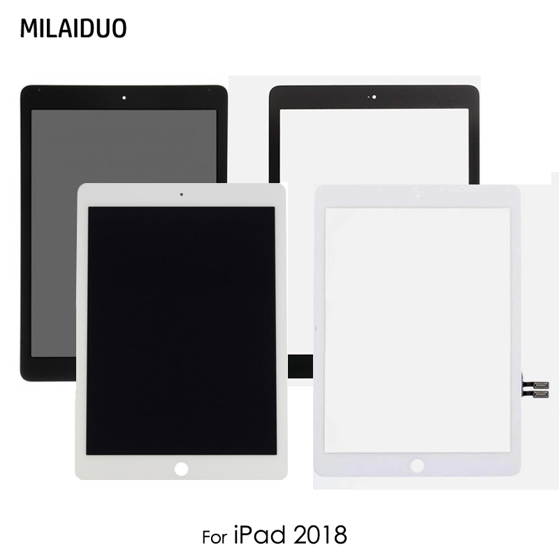 Screen Repair For iPad 9.7 2018 Version A1893 A1954 Touch Screen Digitizer Panel LCD Display For iPad 6 6th Gen A1893 A1954 5pcs lcd display screen for ipad 9 7 2018 version a1893 a1954 for ipad 6 6th gen lcd outer glass panel replacement dhl free