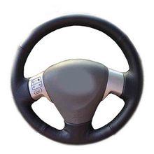 Автомобильные аксессуары из кожи ручной работы рулевого колеса автомобиля Чехлы для мангала для Toyota Corolla 2006-2010 матрица 2009 Auris 2007 -2009