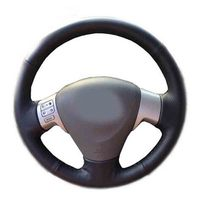 Car Accessories Leather Hand Stitched Car Steering Wheel Covers For Toyota Corolla 2006 2010 Matrix 2009