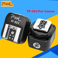 Pixel TF-321 E-TTL Flash Zapata a PC Sync Socket Convertir adaptador para Canon Réflex Digitales y Flashguns TF321 Flash Adaptador de Zapata