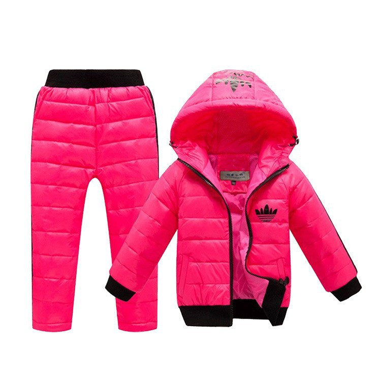 -New-Children-Boys-girls-Clothing-sets-2-8year-Hooded-Down-Jacket-Trousers-Waterproof-Snow-Warm (4)