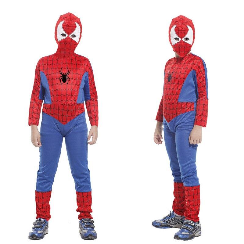 High Quality Halloween Masquerade Party Costume Kids Boys Girls Spiderman Costumes Spider Man Tights Suits Children Gift creative spider paper lantern halloween supply party decoration