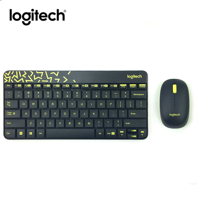 caac37e5bfa Logitech MK240 Nano Wireless Keyboard Mouse Combo Gaming Laptop Gamer  Genuine Receiver Waterproof Ergonomics keyboard and Mouse