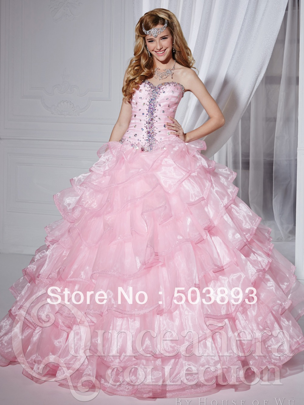 Aliexpress.com : Buy Free shipping masquerade ball gowns ruffles ...