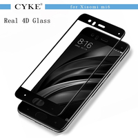 CYKE 9H Full Cover Tempered Glass For Xiaomi Mi6 Real 4D Curved Edge Screen Protector Film