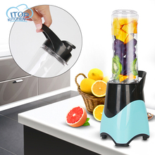 Blue Kitchen Appliances Home Juicer Electric Automatic Mini Fruit Juice Machine Easy To Clean Portable Cup Body Blender