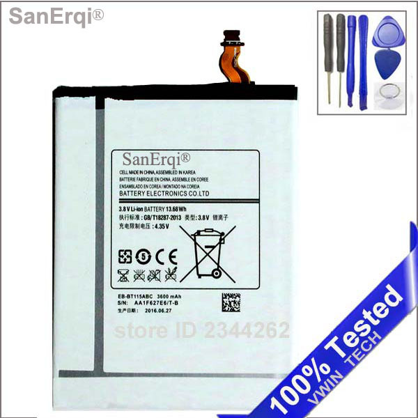 Tested EB-BT115ABC EB-BT111ABE  Battery For Samsung Galaxy Tab Tablet 3 Lite 7.0 3G SM-T111 T111 T110 T115 3600mAh Free Tools