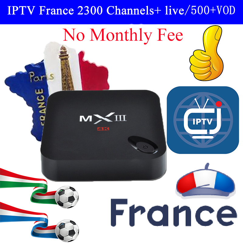 MXIII TV Box iptv arabic france USA Australia Sweden Norway Africa No Monthly Fee HD Network Player Set Top Box 2G /8G Wifi 4K цена